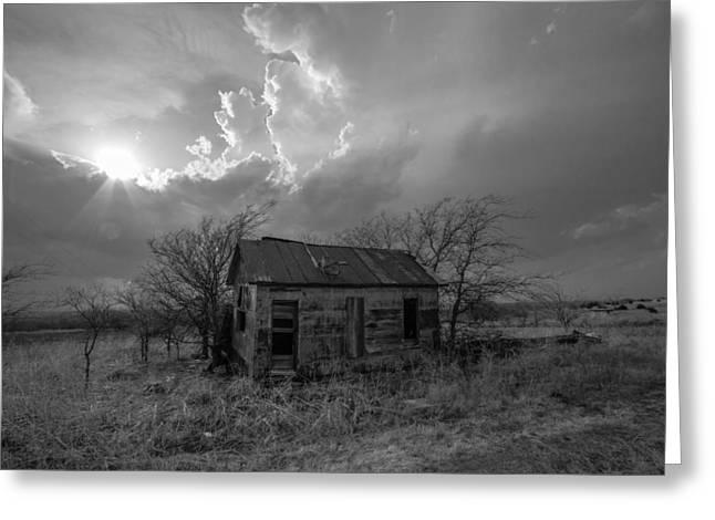 Kansas Farm House Greeting Card by Sean Ramsey
