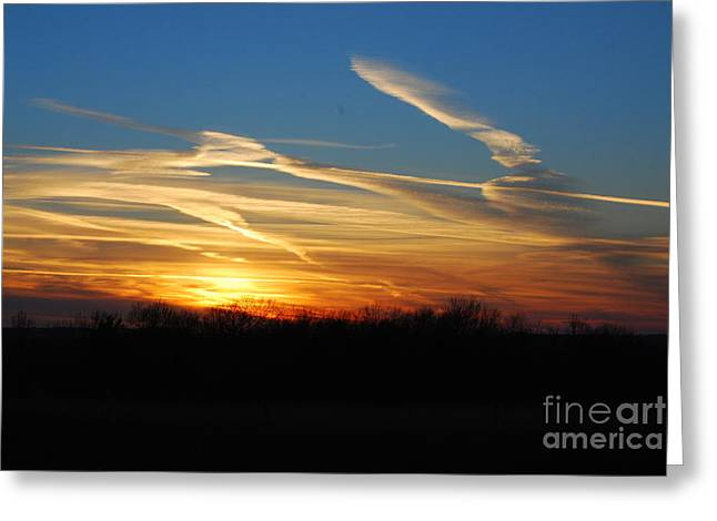 Kansas November Sunset Greeting Card