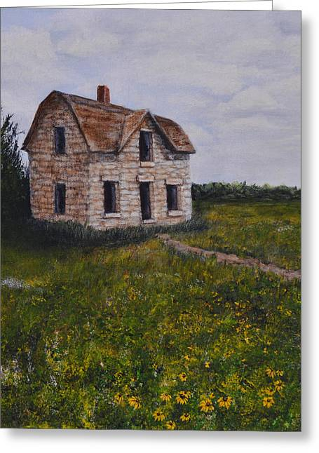 Kansas Stone House Greeting Card