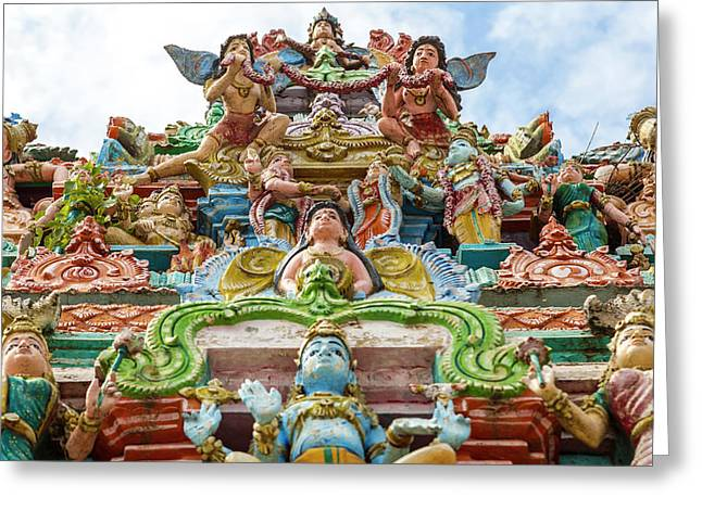 Kapaleeswarar Hindu Temple, Chennai Greeting Card by Peter Adams