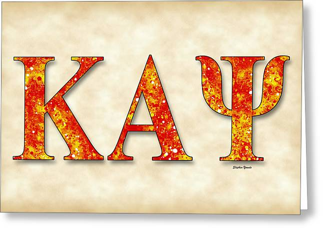 Kappa Alpha Psi - Parchment Greeting Card by Stephen Younts