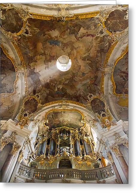 Kappele Wurzburg Organ And Ceiling Greeting Card
