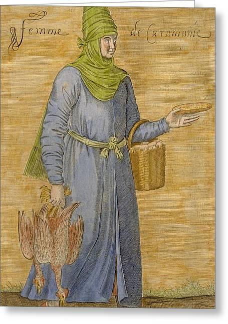 Karamanid Woman Greeting Card