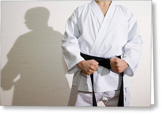 Martial arts greeting cards fine art america karate greeting card karate gustoimagesscience photo library m4hsunfo