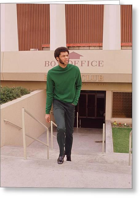 Kareem Abdul Jabbar Coming Up Stairs Greeting Card