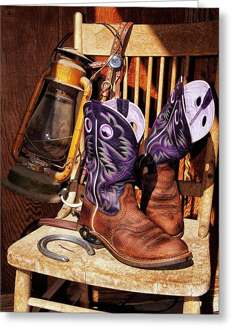 Karen's Cowgirl Gear Greeting Card