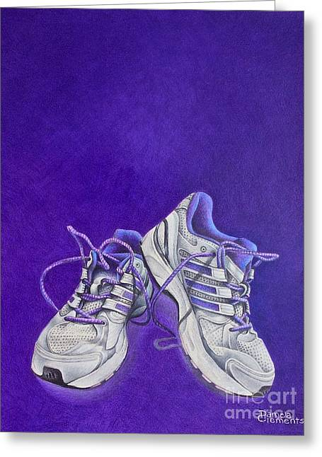 Greeting Card featuring the painting Karen's Shoes by Pamela Clements
