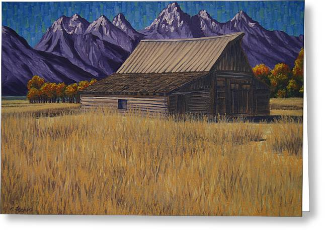 Karen's Teton Barn Greeting Card