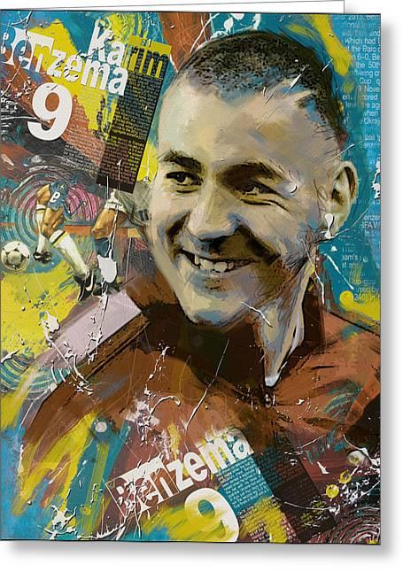 Karim Benzema - B Greeting Card by Corporate Art Task Force