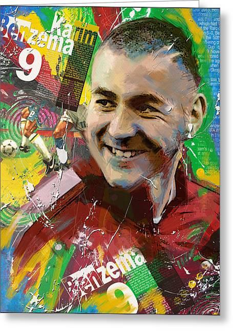 Karim Benzema Greeting Card