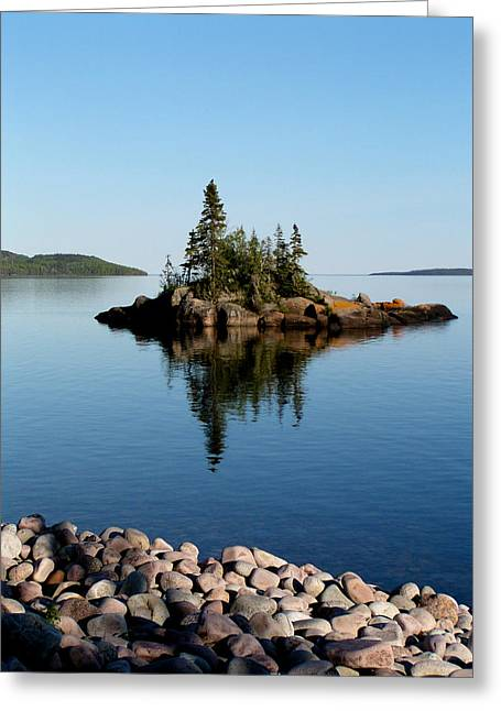 Greeting Card featuring the photograph Karin Island - Photography by Gigi Dequanne