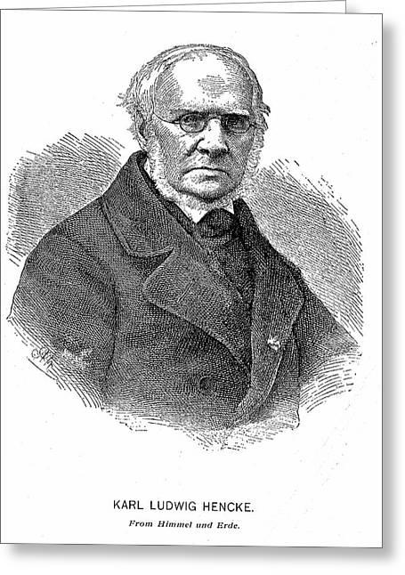 Karl Ludwig Hencke Greeting Card