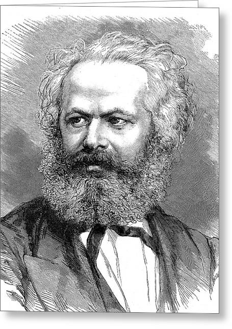 Karl Marx Greeting Card by Collection Abecasis