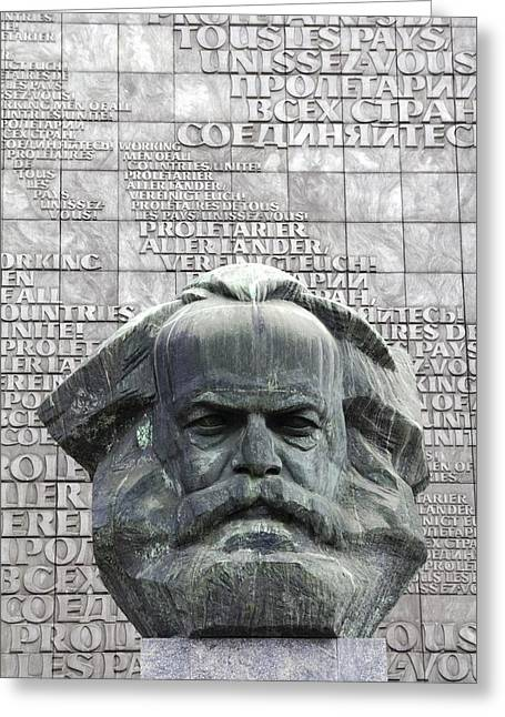 Karl Marx Monument In Chemnitz Greeting Card