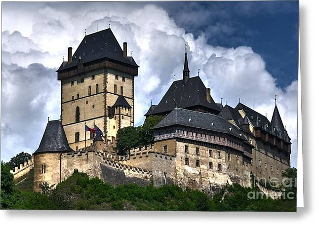 Greeting Card featuring the photograph Karlstejn Castle In Prague 2 by Joe  Ng