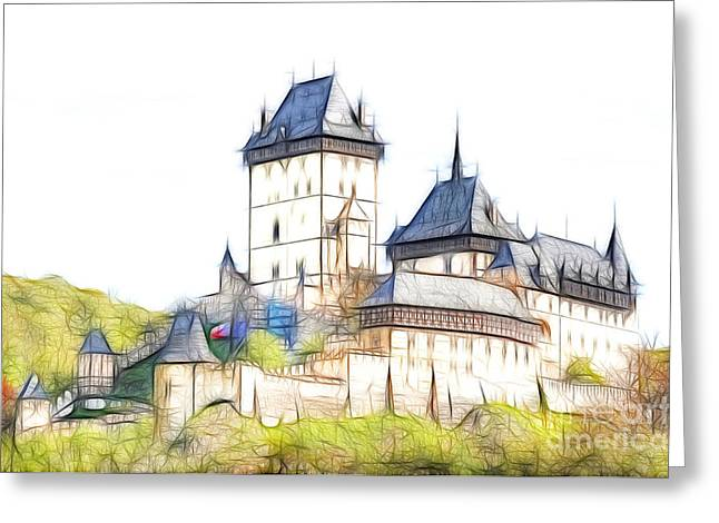 Karlstejn - Famous Gothic Castle Greeting Card by Michal Boubin