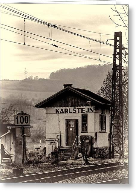 Karlstejn Railroad Shack Greeting Card