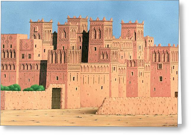 Kasbah, Southern Morocco, 1998 Acrylic On Linen Greeting Card
