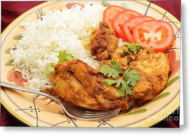 Kashmiri Chicken Greeting Card by Paul Cowan