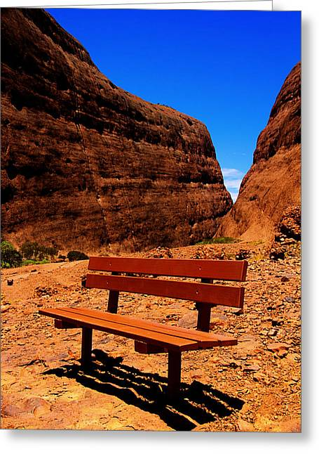 Kata Tjuta Greeting Card by Douglas Barnard