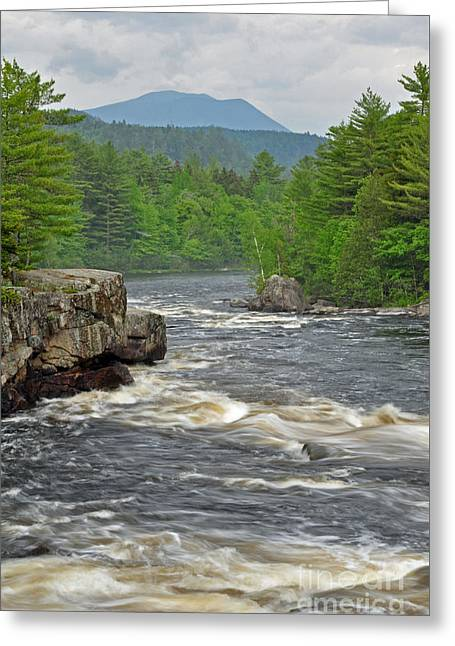Katahdin And Penobscot River Greeting Card