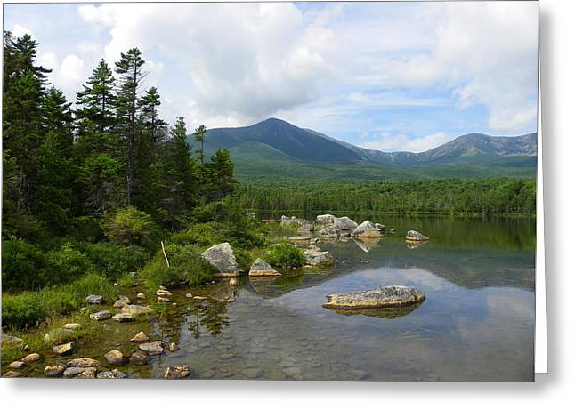 Katahdin And Sandy Stream Pond Greeting Card