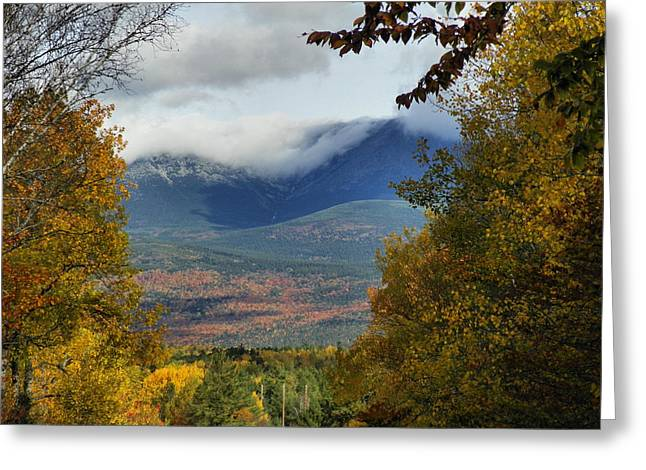 Greeting Card featuring the photograph Katahdin Autumn by Gene Cyr
