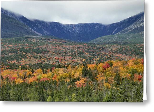 Greeting Card featuring the photograph Katahdin Fall by Gene Cyr
