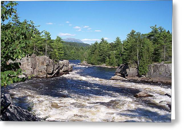 Katahdin From The Crib On The West Branch Greeting Card
