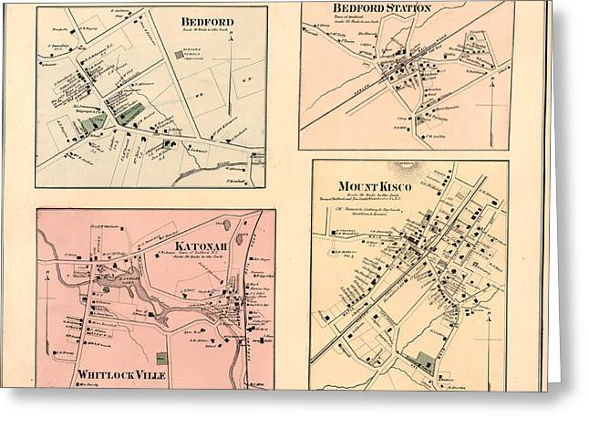 Katanoh, Town Of Bedford, N.y. - Mount Kisco Greeting Card by Litz Collection