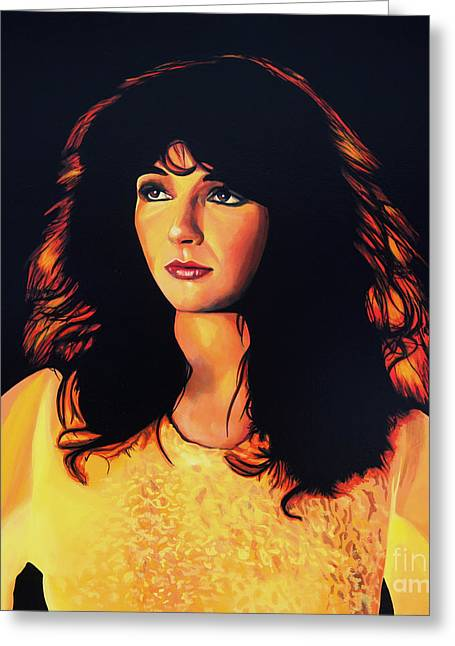 Kate Bush Painting Greeting Card by Paul Meijering