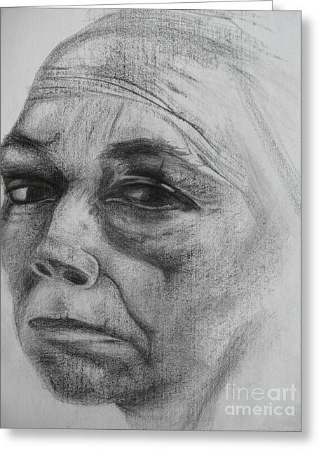 Kathe Kollwitz Greeting Card by Jacquelyn Roberts