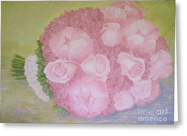 Katie's Wedding Bouquet Greeting Card by Paul Galante