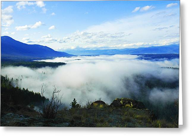 Katka Mountain Lookout Greeting Card by Annie Pflueger