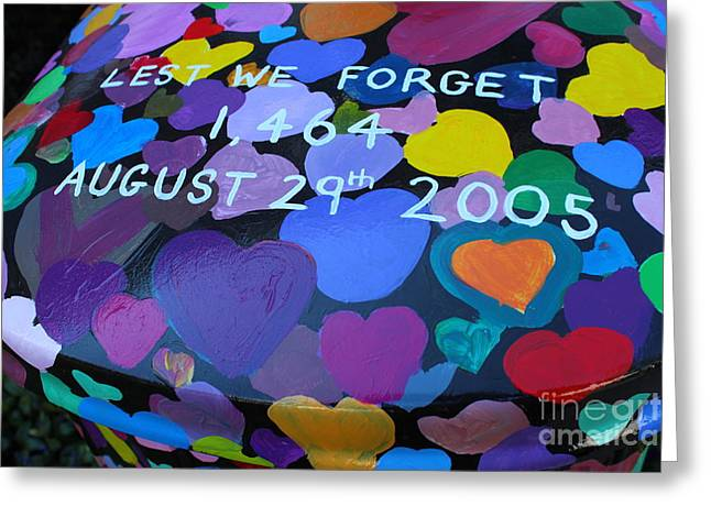 Katrina Casket Memorial Inscription Greeting Card