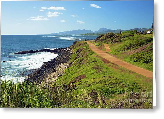 Kauai Coast Greeting Card by Kicka Witte
