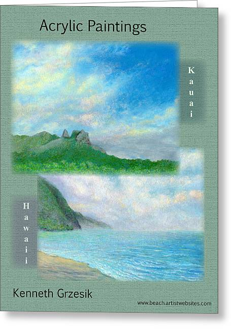 Kauai Painting Poster 2 Greeting Card by Kenneth Grzesik