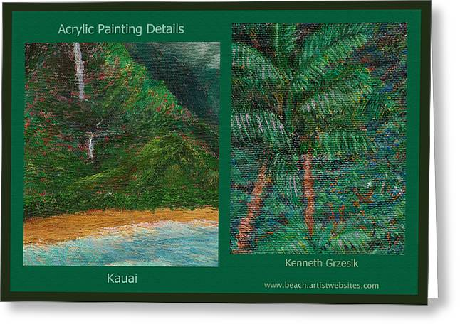 Kauai Painting Poster 3 Greeting Card by Kenneth Grzesik