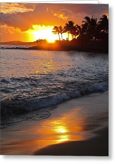 Kauai Sunset Greeting Card by Shane Kelly