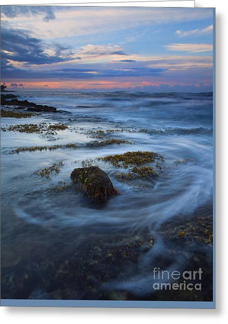 Kauai Tides Greeting Card by Mike  Dawson