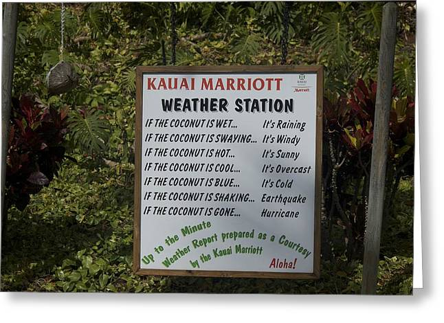 Kauai Weather Report Greeting Card