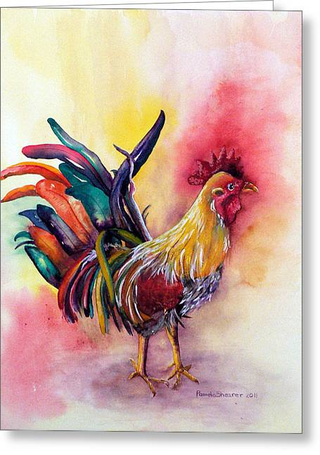 Kauai's Rooster Greeting Card