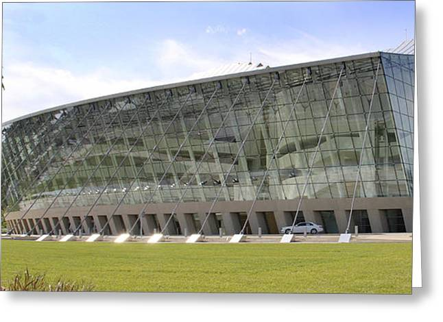 Kauffman Center For Performing Arts Panoramic Greeting Card by Mike McGlothlen