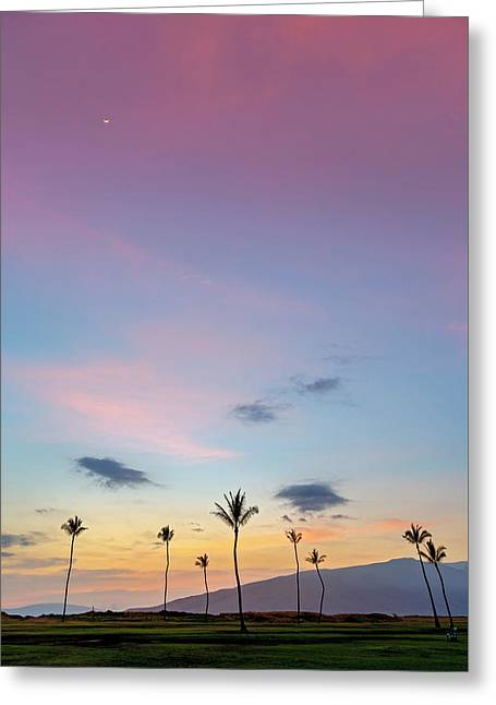 Kauhale Makai Sunset Greeting Card by Pierre Leclerc Photography