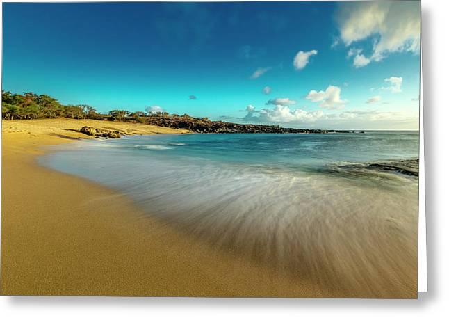 Kawakiu Nui Beach On Molokais West End Greeting Card