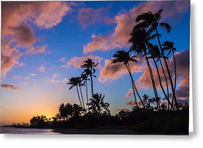 Greeting Card featuring the photograph Kawakui Sunset 3 by Leigh Anne Meeks