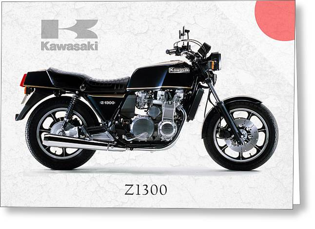Kawasaki Z1300 Greeting Card by Mark Rogan