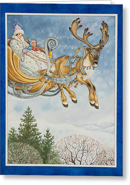 Kay And The Snow Queen Greeting Card
