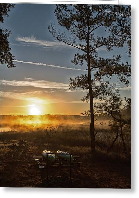 Greeting Card featuring the photograph Kayak Morning by Margaret Palmer