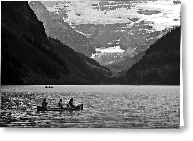 Kayak On Lake Louise Greeting Card by RicardMN Photography
